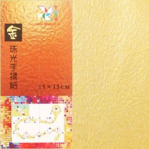 Shoyu Gold Milk White double side, 15cm square, 20 sheets, (KY504)